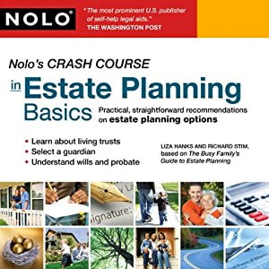 Cover of Nolo's Crash Course in Estate Planning Basics: Practical Straightforward Recommendations on Estate Planning Options
