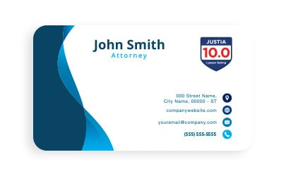 On business card