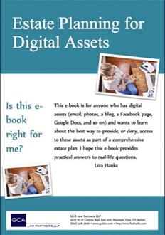 Cover of Estate Planning for Digital Assets