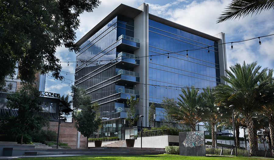 Justia Offices - Building (from green area)