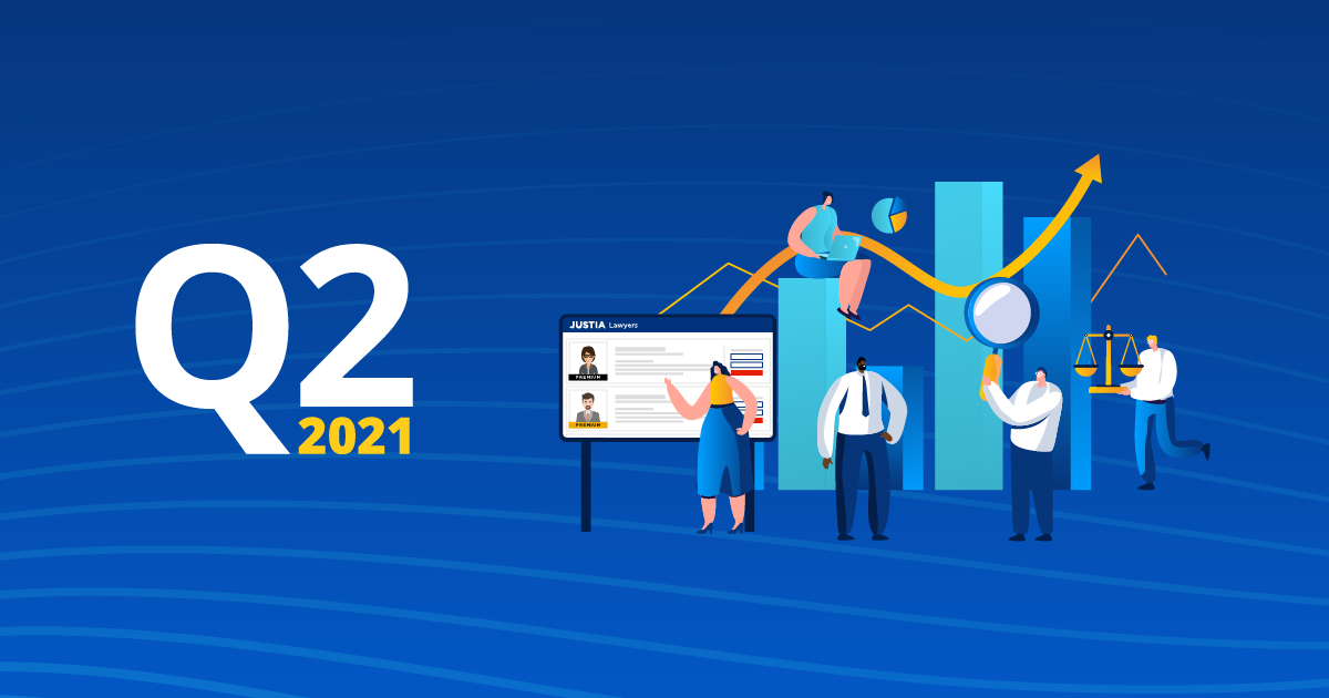 Justia Lawyer Directory by the Numbers: Second Quarter 2021